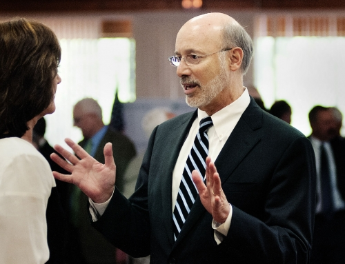 Gov. Tom Wolf visits Livengrin to discuss opiod crisis ahead of Ride for Recovery